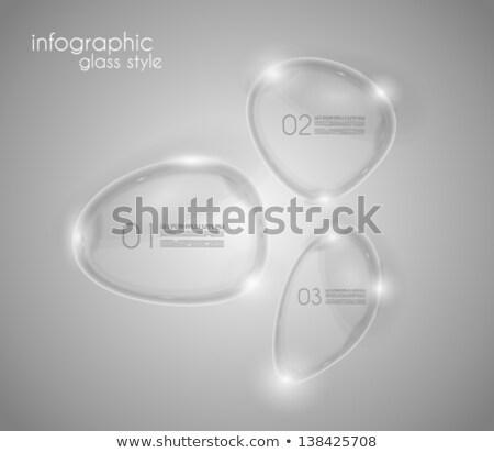 modèle · de · conception · verre · surface · écran · informations - photo stock © davidarts