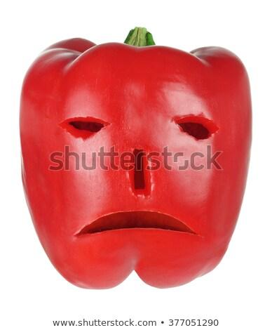 bela · mulher · vermelho · pimenta · pimenta · beautiful · girl - foto stock © iko