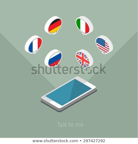 İtalya · bayrak · ikon · yalıtılmış · beyaz · bilgisayar - stok fotoğraf © lirch