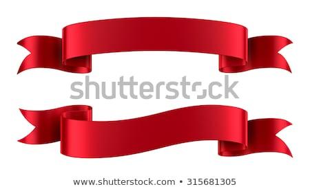 şıklık beyaz dizayn kırmızı şerit Stok fotoğraf © premiere