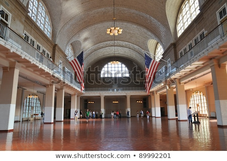 Entrance Ellis Island Stock photo © Hofmeester