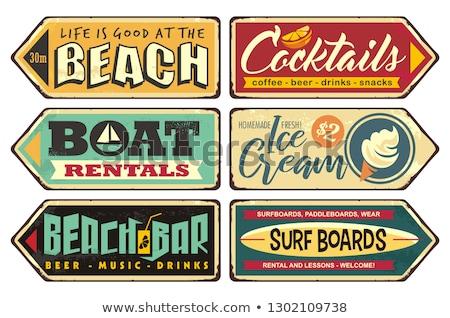 Карибы · лет · праздников · пляж · знак · символ - Сток-фото © cammep