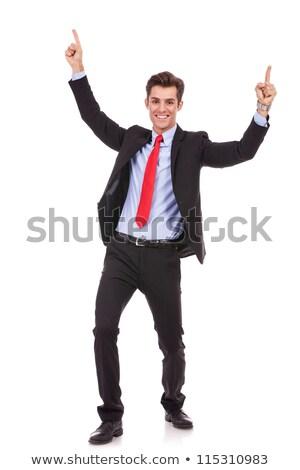 エネルギッシュな 小さな ビジネスマン 成功 肖像 ストックフォト © feedough