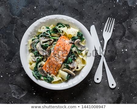 пасты лосося сыра кремом еды блюдо Сток-фото © M-studio