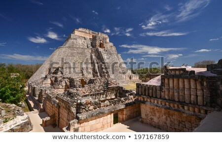 Maya settlement in Uxmal, Yucatan Mexico  Stock photo © meinzahn