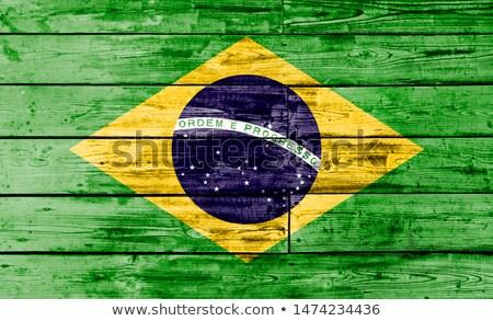Legno bandiera Brasile sfondo viaggio star Foto d'archivio © olgaaltunina