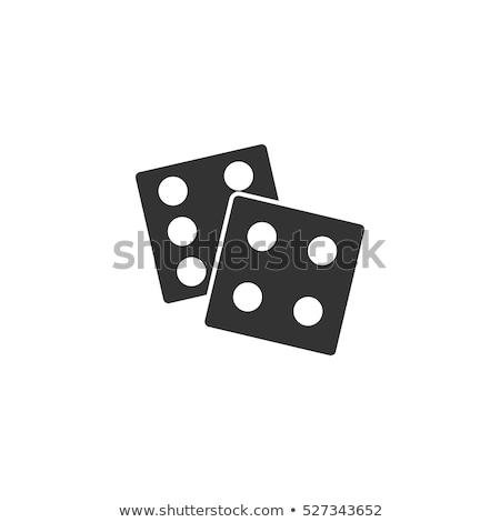 Ikona kości stylizowany hazardu kilka kolor Zdjęcia stock © tracer