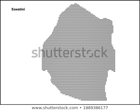 Map of Kingdom  Swaziland with Dot Pattern Stock photo © Istanbul2009