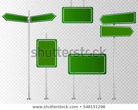 Warning Sign Square Vector Green Icon Design Set Stock photo © rizwanali3d