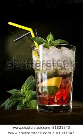 Mojito fresche cocktail menta foglia Foto d'archivio © netkov1