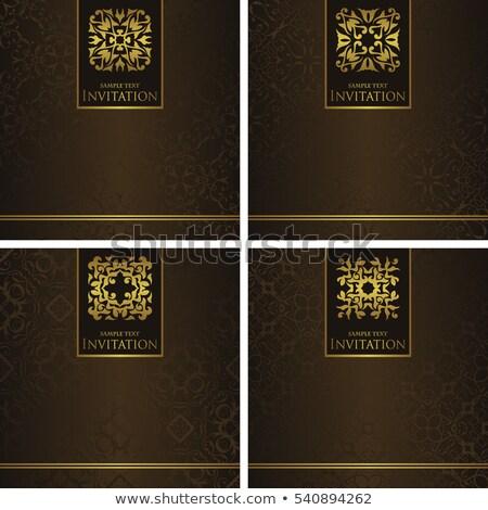 Establecer cuatro damasco flor papel Foto stock © Morphart