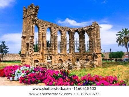 Kerk Cyprus slank kolommen lang Windows Stockfoto © Kirill_M
