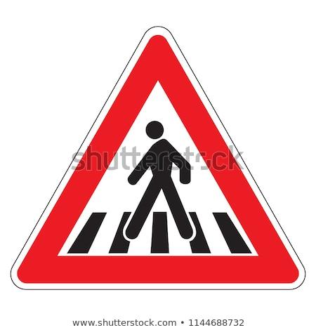 Pedestrian crossing road sign Stock photo © DedMorozz