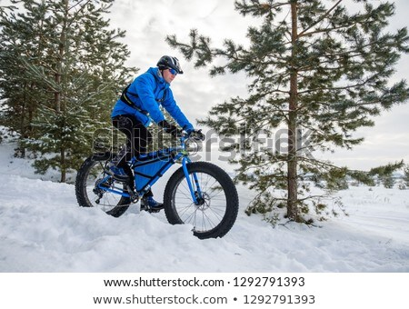 Young man on fat bike Stock photo © Hochwander