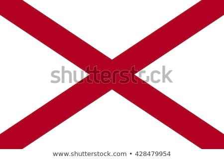 Bayrak Alabama örnek beyaz imzalamak dalgalar Stok fotoğraf © Lom