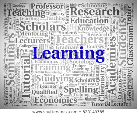 learn word indicates educate text and studying stock photo © stuartmiles