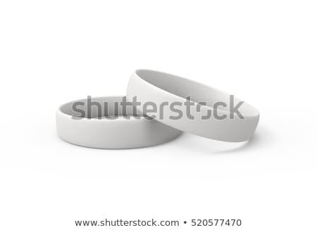 white rubber bracelet 3d stock photo © djmilic