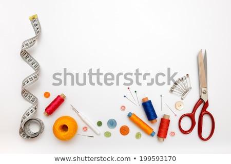 ミシン ツール 表 ファッション 背景 青 ストックフォト © racoolstudio