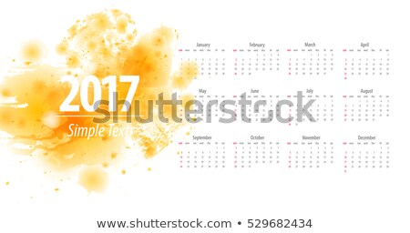 2017 calendar design with blue abstract shapes Stock photo © SArts