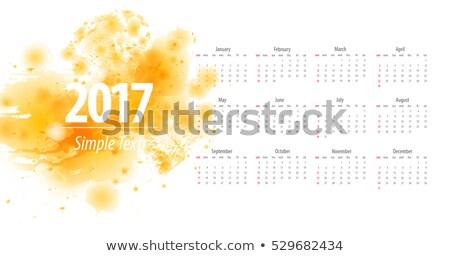 Calendario diseno azul resumen formas feliz Foto stock © SArts