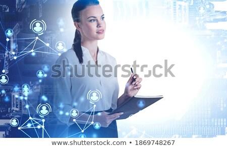 business mail on folder toned image stock photo © tashatuvango