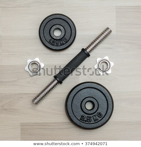 Iron barbell and pancakes isolated Stock photo © IMaster