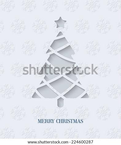 Creativa papel origami estilo árbol de navidad diseno Foto stock © SArts