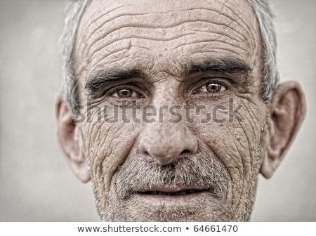 Senior caucasiano homem seis cara Foto stock © tish1