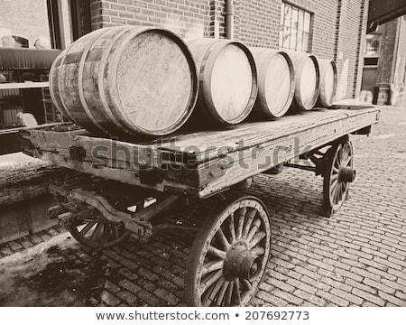 vintage barrel and wheel Stock photo © devon