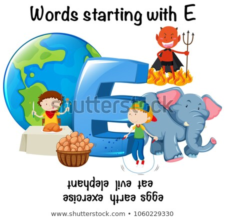 English words starting with E Stock photo © bluering