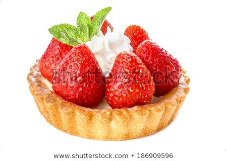 strawberry tart with cream Stock photo © M-studio
