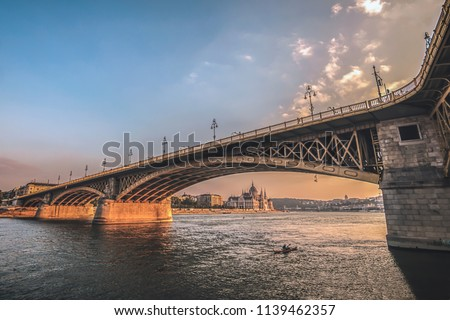 Parliament and Margaret bridge Stock photo © Givaga