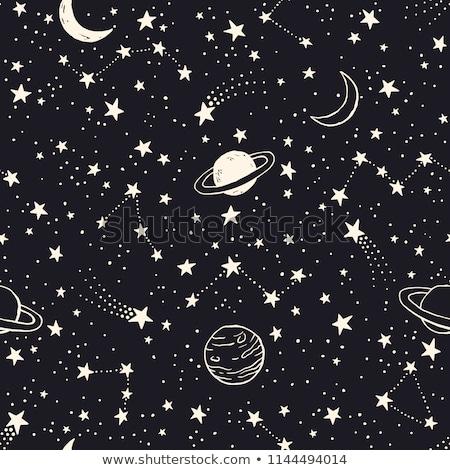 firkák · bolygók · végtelenített · vektor · minta · sötét - stock fotó © yopixart