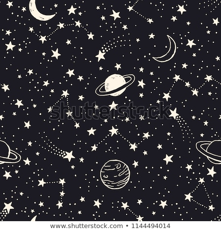 doodles cosmos planets seamless vector pattern stock photo © yopixart