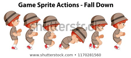 Game sprite actions - fall down Stock photo © bluering