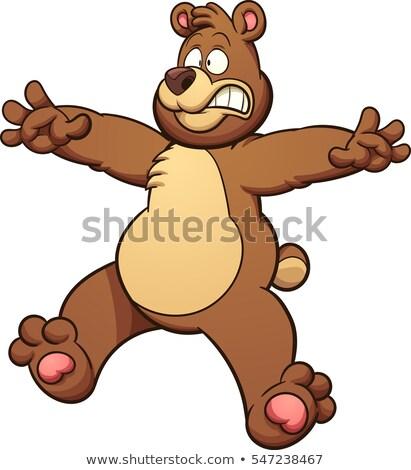 Cartoon orso paura illustrazione guardando Foto d'archivio © cthoman