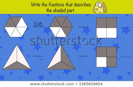 math worksheet template for color the fraction stock photo © colematt