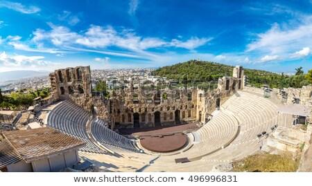 Anfiteatro Acrópole Atenas ver cityscape Grécia Foto stock © neirfy