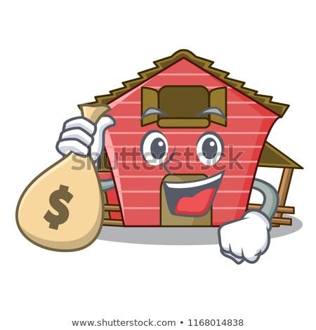 Piros csőr épület vektor izolált illusztráció Stock fotó © robuart
