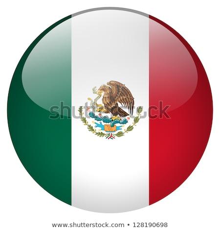 貼紙 設計 旗 墨西哥 插圖 背景 商業照片 © colematt
