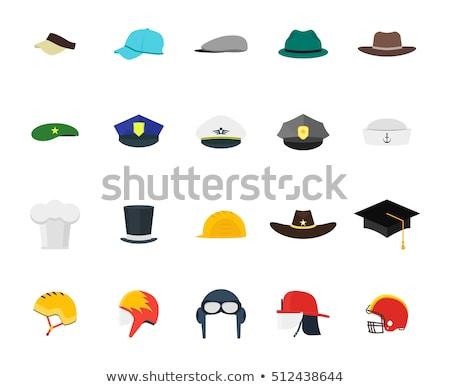 flat type helmet worker mentravel stock photo © toyotoyo