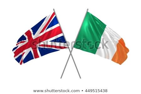 Dos banderas Irlanda aislado blanco Foto stock © MikhailMishchenko