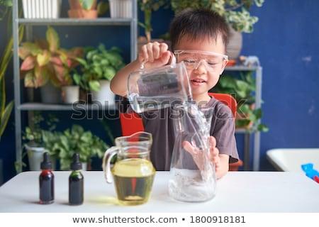 Kinder Studium Chemie Schule Labor Bildung Stock foto © dolgachov