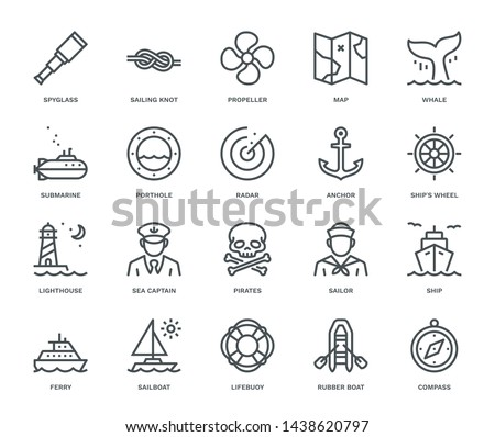 Water Transport Ferry with Lifebuoy Set Vector Stock photo © robuart