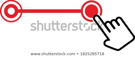 Kéz egér kurzor beállítások szerszámok kör Stock fotó © kyryloff