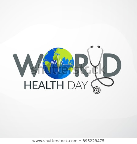 Health day background with heart and medical equipment Stock photo © colematt