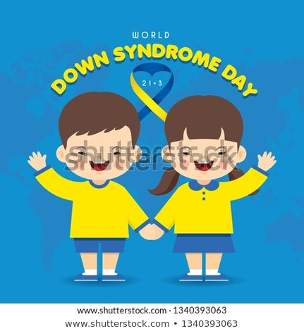 Characters Boy And Girl With Syndrome Down Vector Stock photo © pikepicture