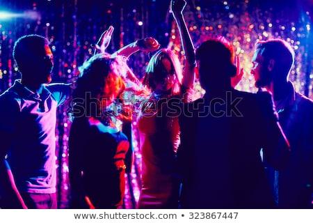 Emberek tánc éjszakai klub diszkó táncos férfi Stock fotó © robuart