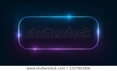 Rectangular azul neón marco vertical rápido Foto stock © Voysla