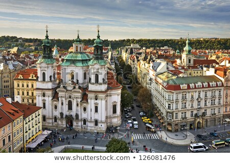 kilise · Prag · görmek · kale · Çek · Cumhuriyeti · gökyüzü - stok fotoğraf © borisb17